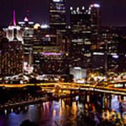 Pittsburgh At Night Art Print
