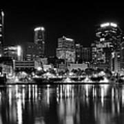 Pittsburgh Black And White Panorama Art Print