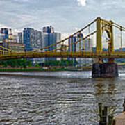 Pittsburgh Clemente Bridge Art Print