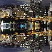 Pittsburgh Dusk Reflection 2 Art Print