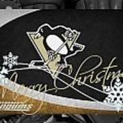 Pittsburgh Penguins Christmas Art Print