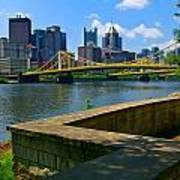 Pittsburgh Pennsylvania Skyline And Bridges As Seen From The North Shore Art Print by Amy Cicconi