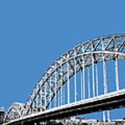 Pittsburgh Skyline 16th St. Bridge - Slate Art Print