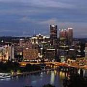 Pittsburgh Skyline At Dusk From Mount Washington Art Print