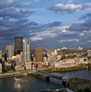 Pittsburgh Skyline At Dusk Art Print