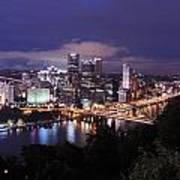 Pittsburgh Skyline At Night From Mount Washington 3 Art Print