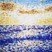 Pixelated Sunset Art Print