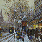Place De La Republique Paris Print by Eugene Galien-Laloue
