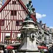 Place Francois Rude - Dijon Art Print