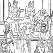 Plague, 1500 Art Print