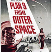 Plan 9 From Outer Space, Vampira, 1959 Art Print
