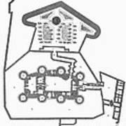Plan Of The Bastille Art Print by Granger