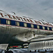 Plane Fly Eastern Air Lines Art Print