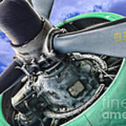Plane Green Prop Art Print