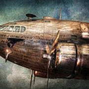Plane - Pilot - The Flying Cloud  Art Print by Mike Savad