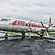 Plane Props On Capital Airlines Art Print
