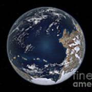 Planet Earth 600 Million Years Ago Art Print