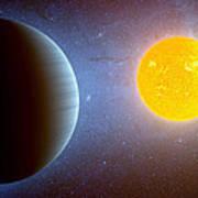 Planet Kepler10 Stellar Family Portrait Art Print