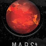 Planet Mars Art Print