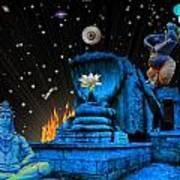 Planet Of Shiva  Art Print by Jason Saunders