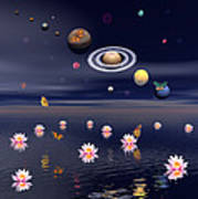 Planets Of The Solar System Surrounded Art Print