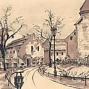 Planty Cracow Art Print