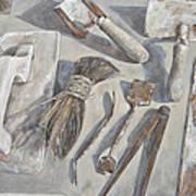 Plasterer Tools 1 Print by Anke Classen