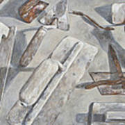 Plasterer Tools 2 Art Print by Anke Classen