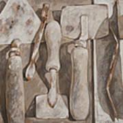 Plasterer's Tools Art Print
