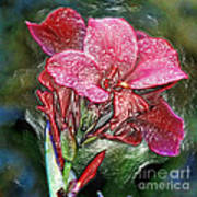 Plastic Wrapped Pink Flower By Diana Sainz Art Print