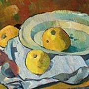 Plate Of Apples Art Print by Paul Serusier