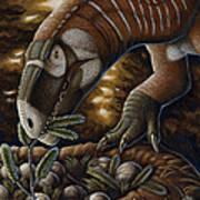 Plateosaurus Dinosaur Nest Art Print