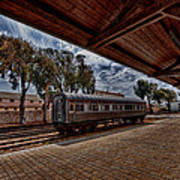 platform view of the first railway station of Tel Aviv Art Print