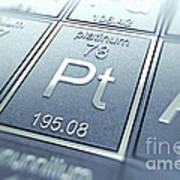 Platinum Chemical Element Art Print