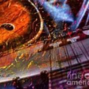 Play It Again Sam Digital Guitar And Banjo Art By Steven Langston Art Print