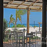 Playa Blanca Restaurant Bar Area Punta Cana Dominican Republic Art Print