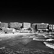 Playa Cappellans And Salou Waterfront Properties On The Costa Dorada Catalonia Spain Art Print