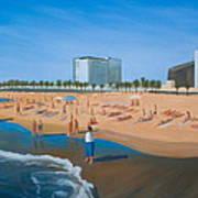 Playa De La Barceloneta Art Print