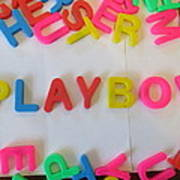 Playboy - Magnetic Letters Art Print