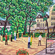 Playing Boules At Betty's Cafe- Harrogate Art Print