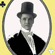 Playing Card Of Actor And Director Romain Fielding Unknown Date-2008 Art Print