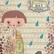 Playing In The Rain Art Print