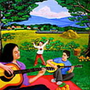 Playing Melodies Under The Shade Of Trees Art Print