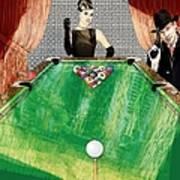 Playing Pool My Way Art Print