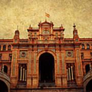 Plaza De Espana 1. Seville Art Print