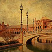 Plaza De Espana 9. Seville Print by Jenny Rainbow