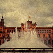 Plaza De Espana. Seville Art Print
