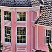Beautiful Pink Turret - Boardwalk Plaza Hotel Annex - Rehoboth Beach Delaware Art Print