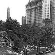Plaza Hotel From Central Park Art Print