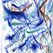 Plume Bleues Art Print